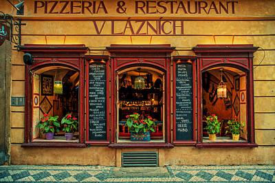 Photograph - Vlaznich Pizzeria And Restaurant. Prague by Jenny Rainbow