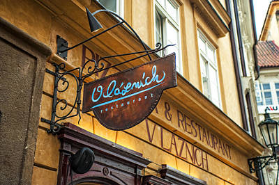 Old Prague Photograph - Vlaznich Restaurant In Old Town. Prague by Jenny Rainbow