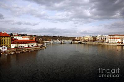 Vltava River View Art Print by John Rizzuto