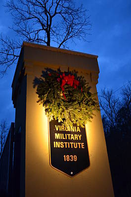 Art Print featuring the photograph Vmi North Gate Pylon  by Cathy Shiflett