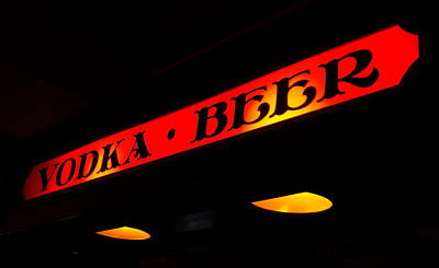 Photograph - Vodka And Beer Neon Sign by Valentino Visentini
