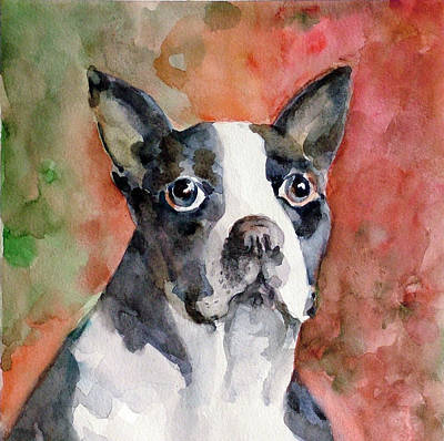 Art Print featuring the painting Vodka - French Bulldog by Faruk Koksal
