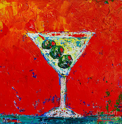Food And Beverage Royalty-Free and Rights-Managed Images - Vodka Martini Shaken not stirred - Martini Lovers - Modern Art by Patricia Awapara
