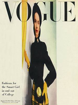 Vogue Cover Featuring A Distorted Image Print by Erwin Blumenfeld
