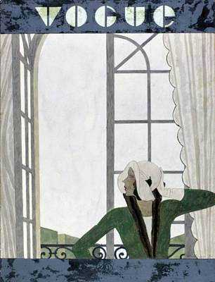 Vogue Cover Featuring A Woman Beside An Open Art Print