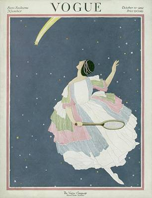 Vogue Cover Featuring A Woman Flying Art Print by George Wolfe Plank