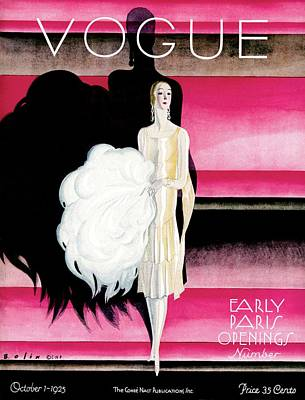 Illustration Photograph - Vogue Cover Featuring A Woman In An Evening Dress by William Bolin