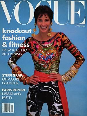 Vogue Cover Featuring Christy Turlington Art Print