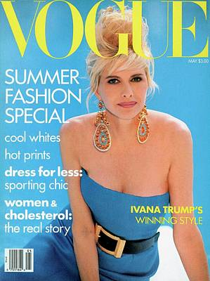 Designer Jewelry Photograph - Vogue Cover Featuring Ivana Trump by Patrick Demarchelier