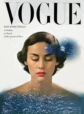 Vogue Cover Featuring Joan Petit Art Print by Herbert Matter