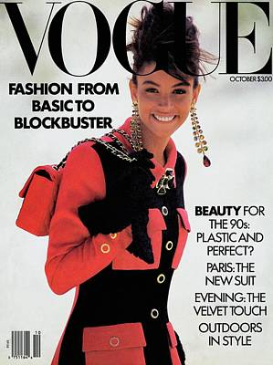 Jewelry Bag Photograph - Vogue Cover Featuring Kara Young by Patrick Demarchelier
