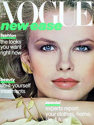 Photograph - Vogue Cover Featuring Lisa Taylor by Albert Watson