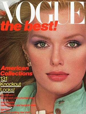 Earrings Photograph - Vogue Cover Featuring Patti Hansen by Albert Watson