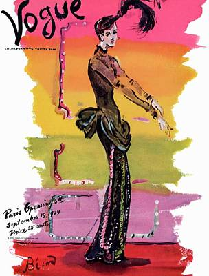 1939 Photograph - Vogue Cover Illustration by Christian Berard