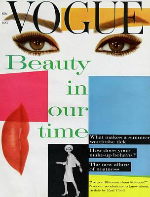 Eyeliner Photograph - Vogue Cover Illustration Of A Collage Featuring by Artist Unknown