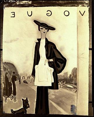 Vogue Cover Illustration Of A Woman In A Molyneux Art Print by Eduardo Garcia Benito