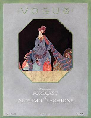 Of Autumn Photograph - Vogue Cover Illustration Of A Woman Looking by  Unknown
