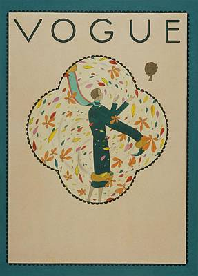 Vogue Cover Illustration Of A Woman Standing Art Print