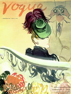 Oscar Photograph - Vogue Cover Illustration Of A Woman Wearing by Carl Oscar August Erickson