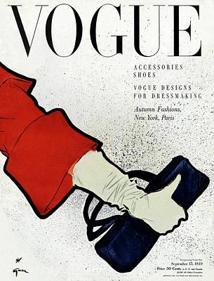 White Gloves Photograph - Vogue Cover Illustration Of A Woman's Arm Holding by Rene Gruau