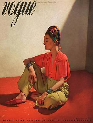 Fashion Photograph - Vogue Cover Illustration Of Model Helen Bennett by Horst P. Horst