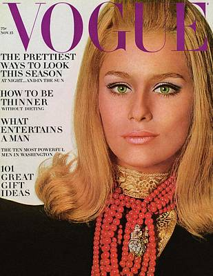 Photograph - Vogue Cover Of Lauren Hutton by Bert Stern