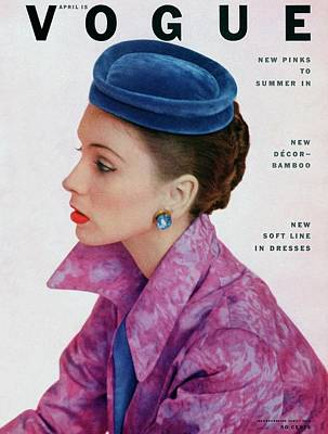 Photograph - Vogue Cover Of Suzy Parker by John Rawlings