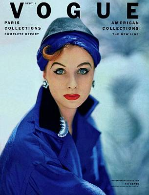 Earrings Photograph - Vogue Cover Of Suzy Parker by Roger Prigent