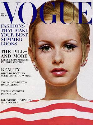 Vogue Cover Of Twiggy Art Print by Bert Stern