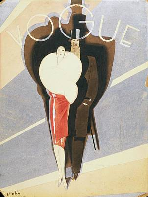 Shoe Digital Art - Vogue Magazine Cover Featuring A Couple Dressed by William Bolin
