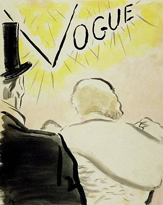 Oscar Digital Art - Vogue Magazine Cover Featuring A Couple Seen by Carl Oscar August Erickson