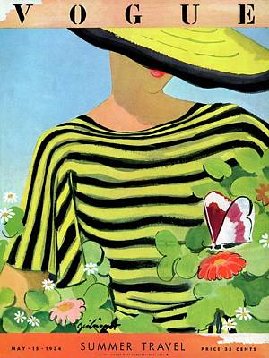 Vogue Magazine Cover Featuring A Woman Looking Art Print