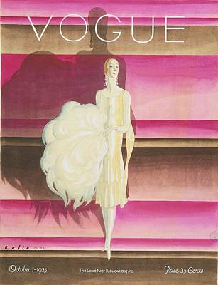 Digital Art - Vogue Magazine Cover Featuring A Woman Wearing by William Bolin