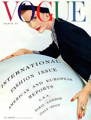 Photograph - Vogue Magazine Cover Featuring Model Mary Jane by Erwin Blumenfeld