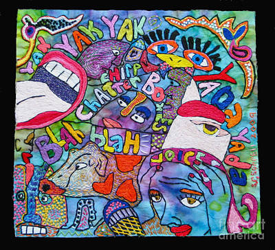 Voices In My Head Art Print by Susan Sorrell