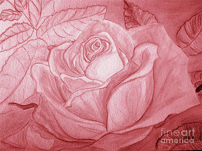 Painting - Voir La Vie En Rose by Heather  Hiland
