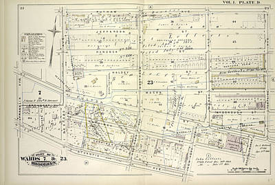 Vol. 1. Plate, D. Map Bounded By Putnam Ave., Tompkins Art Print