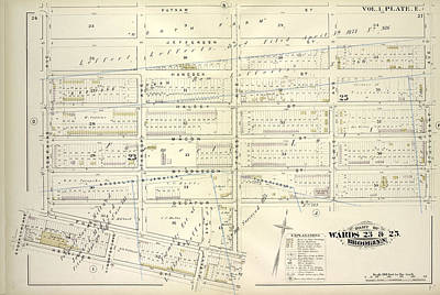 Vol. 1. Plate, E. Map Bounded By Putnam Ave., Stuyvesant Art Print by Litz Collection