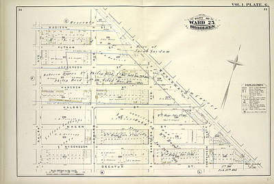 Vol. 1. Plate, G. Map Bounded By Madison St., Broadway Art Print