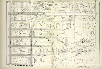 Pl Drawing - Vol. 1. Plate, I. Map Bound By Herkimer St., Troy Ave by Litz Collection