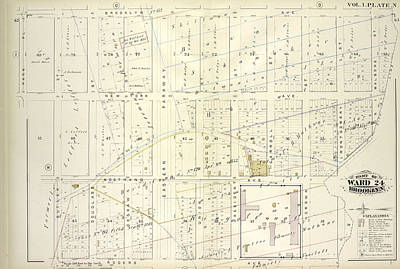 Douglass Drawing - Vol. 1. Plate, N. Map Bound By Brooklyn Ave., City Line by Litz Collection