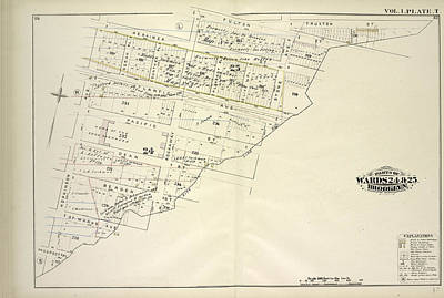 Pl Drawing - Vol. 1. Plate, T. Map Bound By Herkimer St., Rockaway Ave by Litz Collection