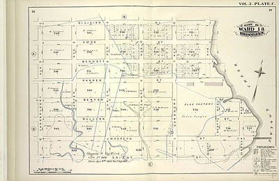 Pl Drawing - Vol. 2. Plate, C. Map Bound By Division Pl., Newtown Creek by Litz Collection