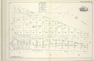 Vol. 2. Plate, K. Map Bound By City Line, Greene St Art Print