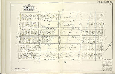 Hamburg Drawing - Vol. 2. Plate, M. Map Bound By Starr St., Wyckoff Ave by Litz Collection