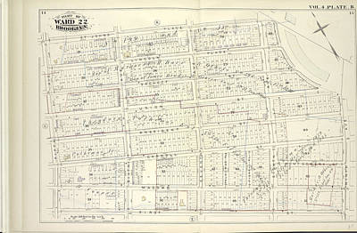 Pl Drawing - Vol. 4. Plate, B. Map Bound By St. Johns Place, Plaza by Litz Collection