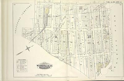 Vol. 4. Plate, I. Map Bound By Ninth Ave., Prospect Park Art Print