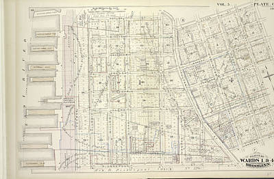 Vol. 5. Plate, C. Map Bound By Poplar St., Sands St., Jay Art Print by Litz Collection