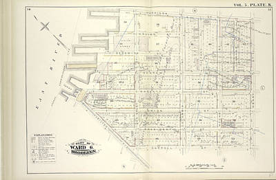 Vol. 5. Plate, K. Map Bound By Harrison St., Henry St Art Print by Litz Collection