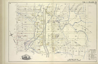 Pl Drawing - Vol. 5. Plate, M. Map Bound By Butler St., Fourth Ave by Litz Collection